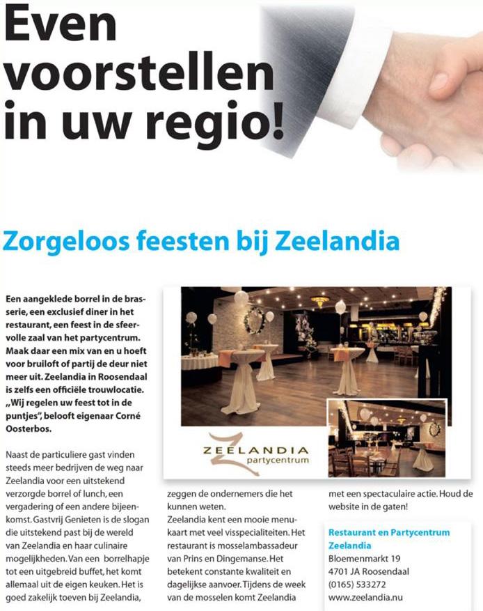 Even Voorstel: Zaal Zeelandia